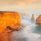 Golden Light Twelve Apostles, Victoria, Australia by Michael Boniwell