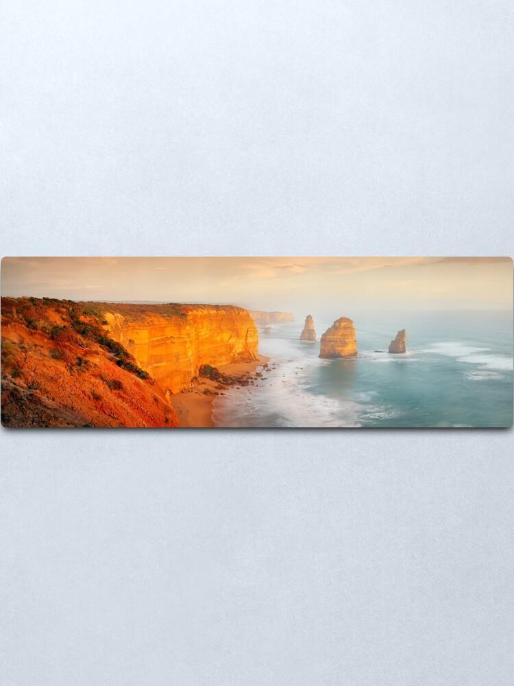 Alternate view of Golden Light Twelve Apostles, Victoria, Australia Metal Print