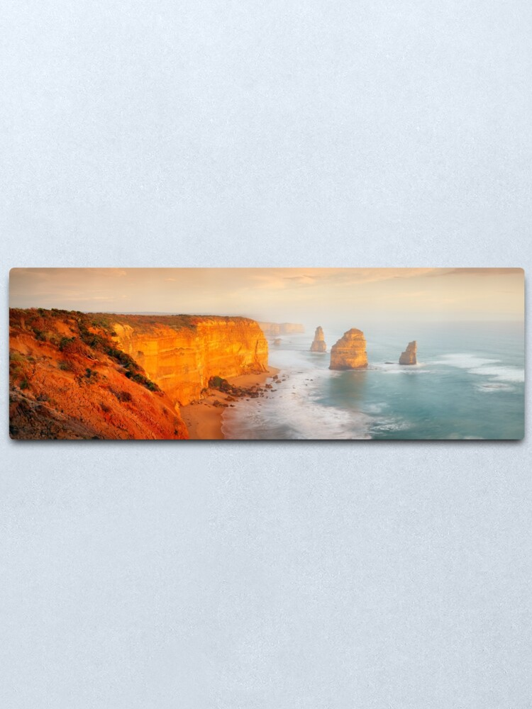 Alternate view of Golden Light Twelve Apostles, Victoria, Australia Metal Print