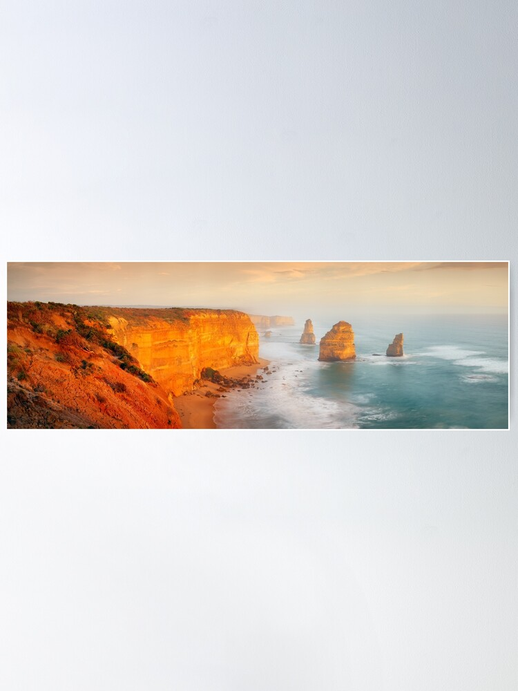 Alternate view of Golden Light Twelve Apostles, Victoria, Australia Poster