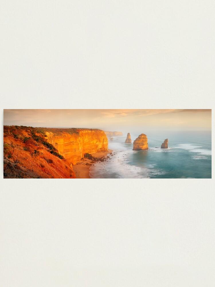 Alternate view of Golden Light Twelve Apostles, Victoria, Australia Photographic Print