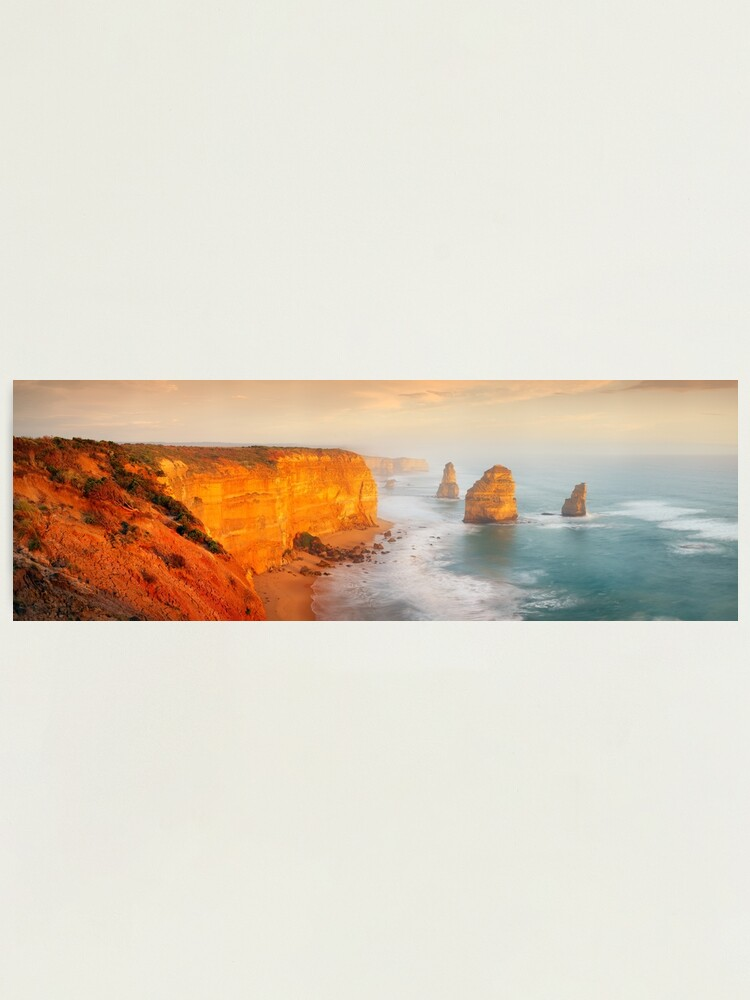 Alternate view of Golden Light Twelve Apostles, Victoria, Australia Photographic Print
