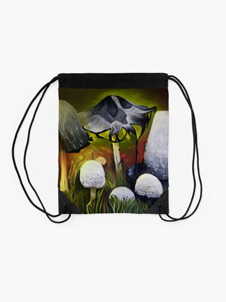 Alternate view of Mushrooms Drawstring Bag