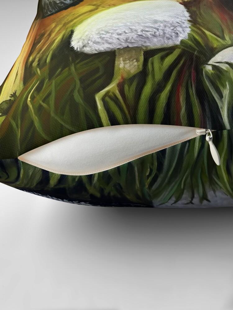 Alternate view of Mushrooms Throw Pillow