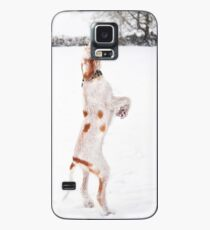 Snow Catching Spinone Case/Skin for Samsung Galaxy