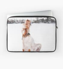 Snow Catching Spinone Laptop Sleeve