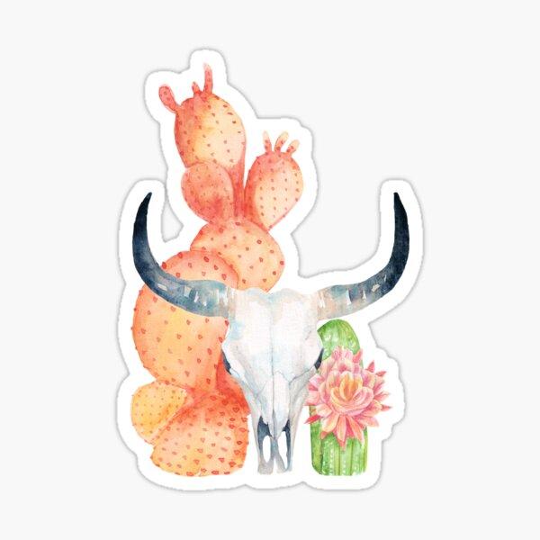 Skull & cactus. Sticker