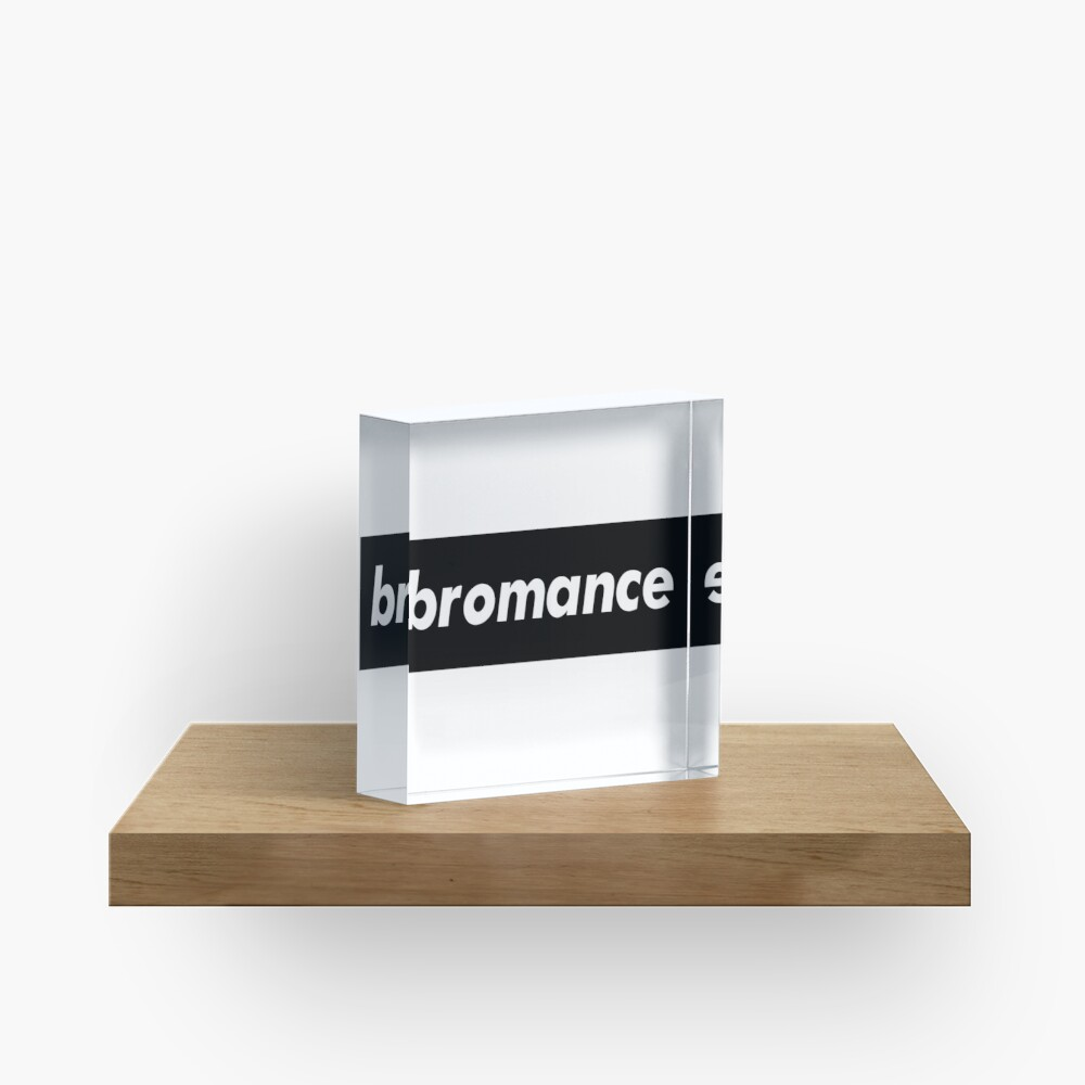Bromance Male Friendship Acrylic Block