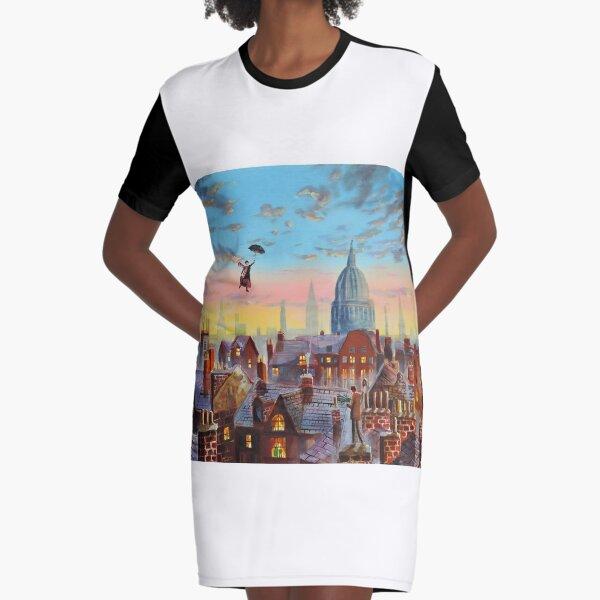 Mary Poppins & Bert II Graphic T-Shirt Dress