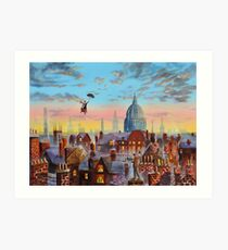 Lámina artística Mary Poppins y Bert II