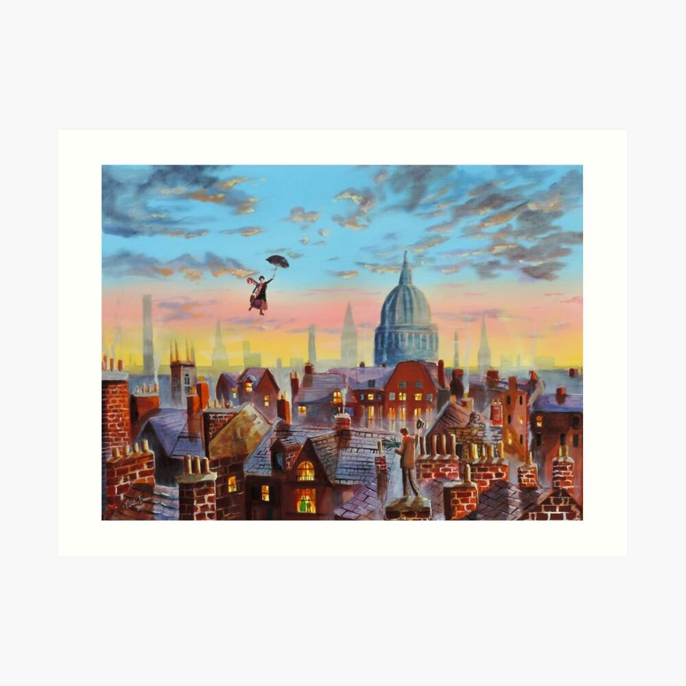 Mary Poppins & Bert II Art Print