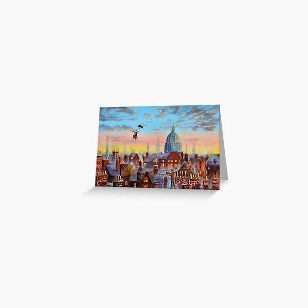 Mary Poppins & Bert II Greeting Card