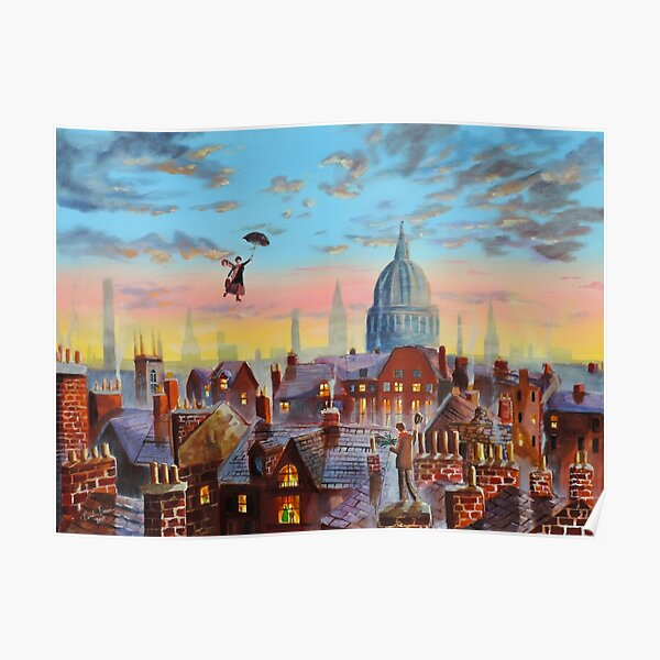 Mary Poppins & Bert II Poster