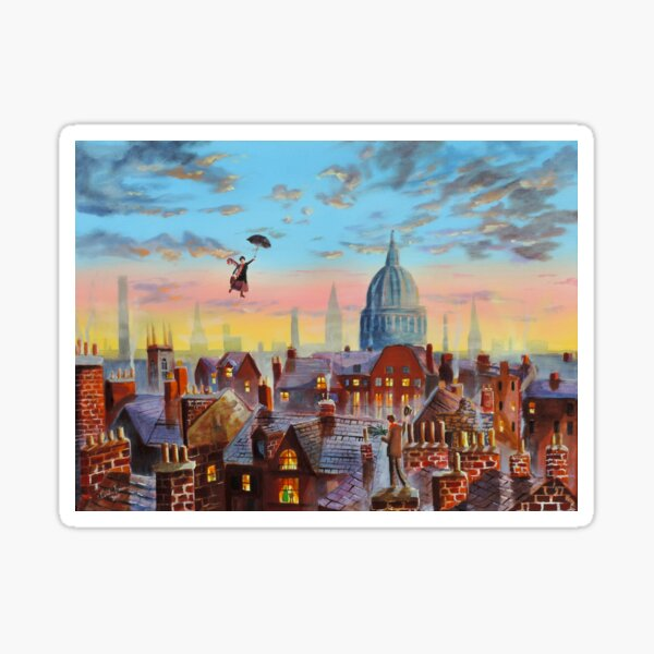 Mary Poppins & Bert II Sticker