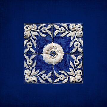 antique blue tile by TessAndre