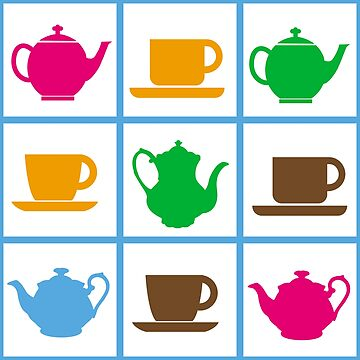 Colorful teapots pattern by igorsin