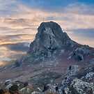 Panorama on the mountain at sunrise by nicolagiordano