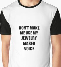 Jewelry Maker Gift for Coworkers Funny Present Idea Graphic T-Shirt