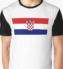 Flag of Croatia Graphic T-Shirt