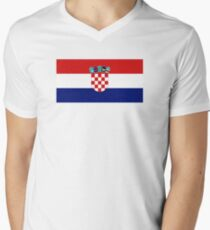 Flag of Croatia Men's V-Neck T-Shirt