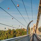Clifton Suspension Bridge and Balloons by Carolyn Eaton
