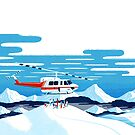 Heli drop-off back country paradise by Sam Brewster