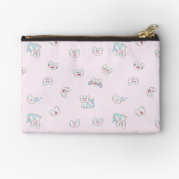 Emo Light Pink Pattern Zipper Pouch