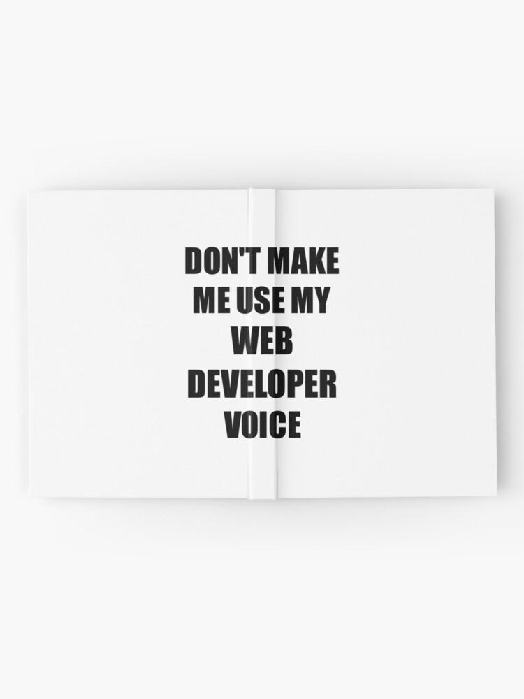 Vista alternativa de Cuaderno de tapa dura Web Developer Gift for Coworkers Funny Present Idea