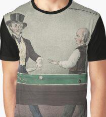 Vintage Billiards Game Illustration (1874) Graphic T-Shirt