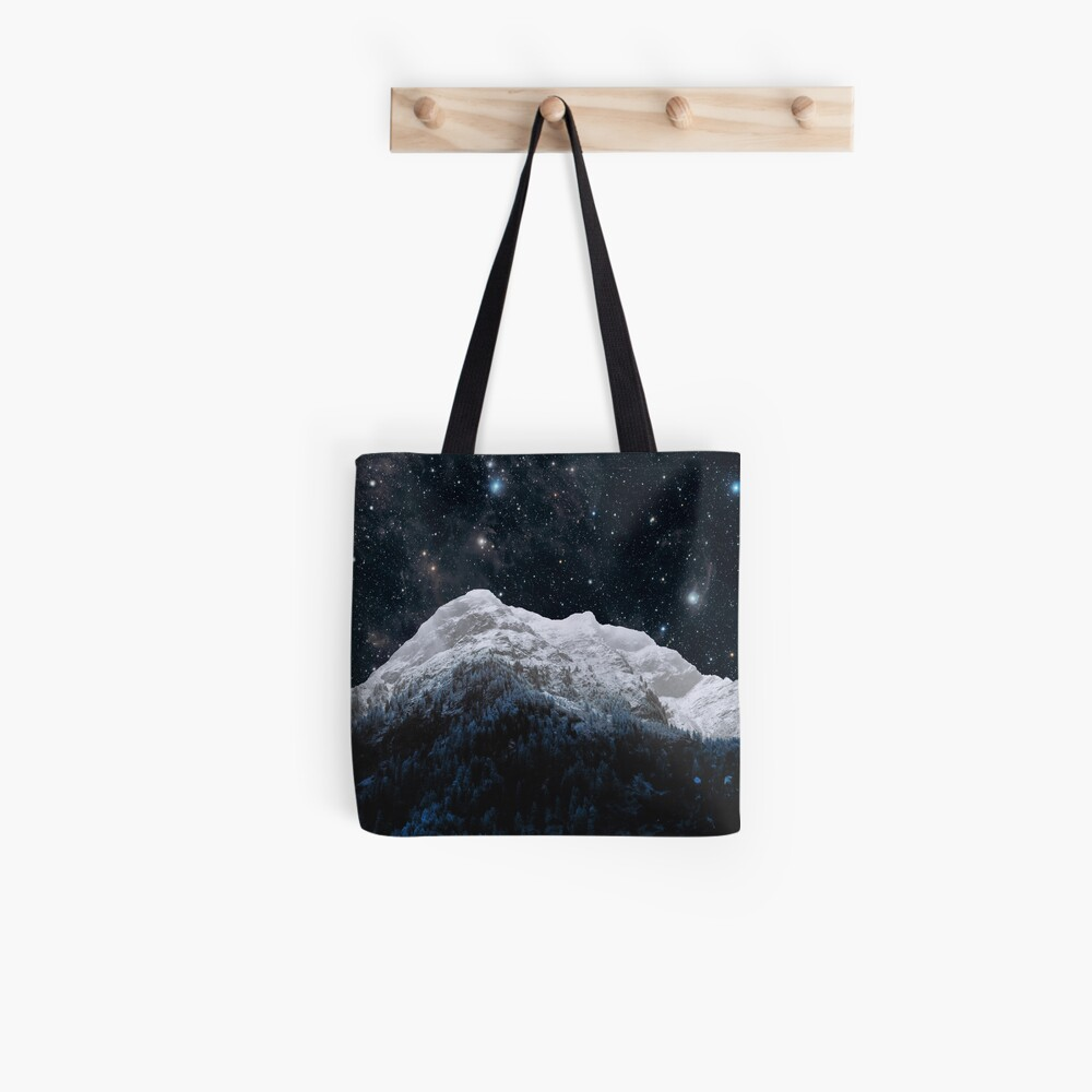 Mountains Attracts Galaxy Tote Bag