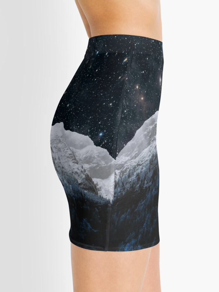 Alternate view of Mountains Attracts Galaxy Mini Skirt