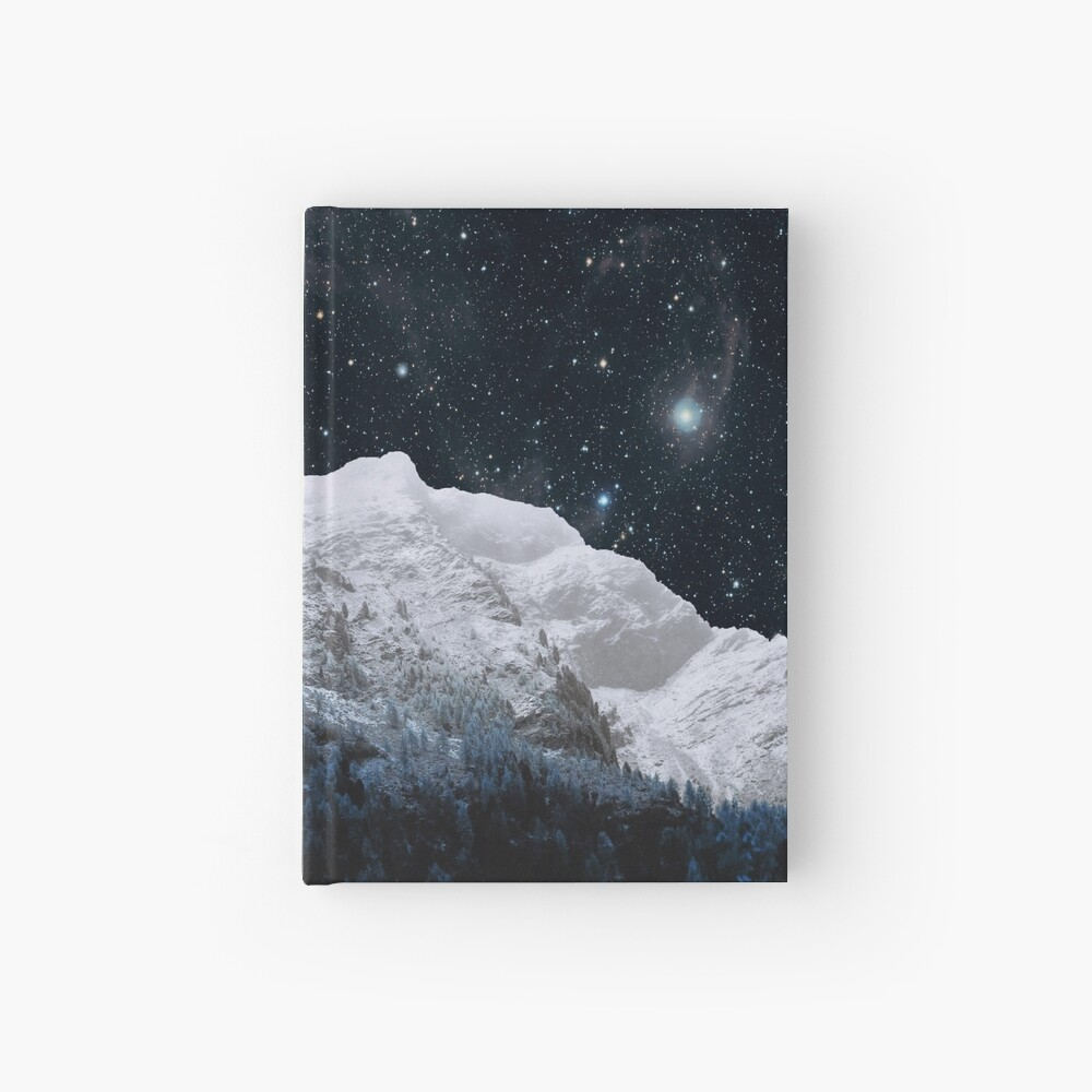 Mountains Attracts Galaxy Hardcover Journal