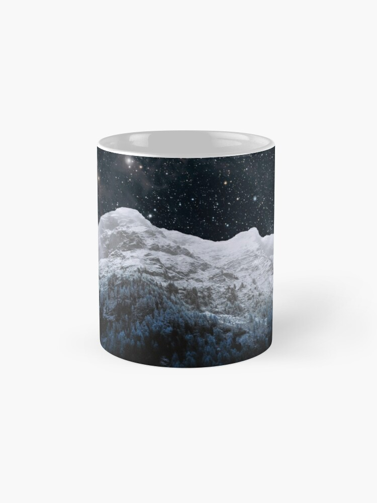 Alternate view of Mountains Attracts Galaxy Mug