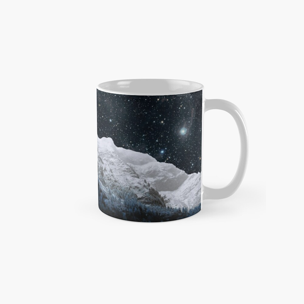 Mountains Attracts Galaxy Mug