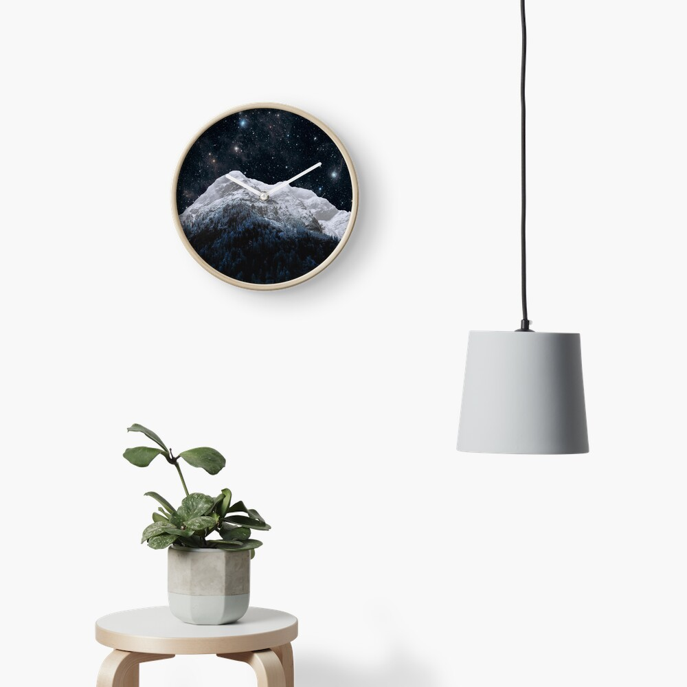 Mountains Attracts Galaxy Clock
