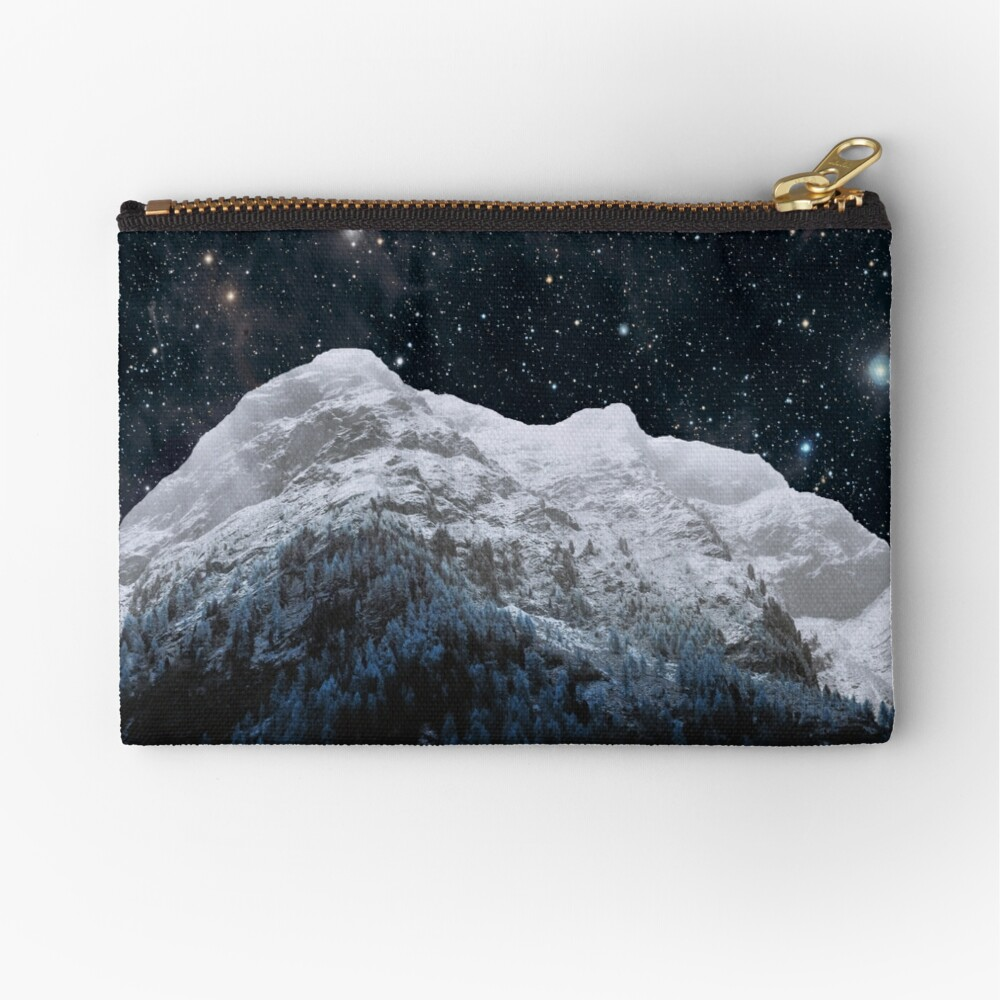 Mountains Attracts Galaxy Zipper Pouch