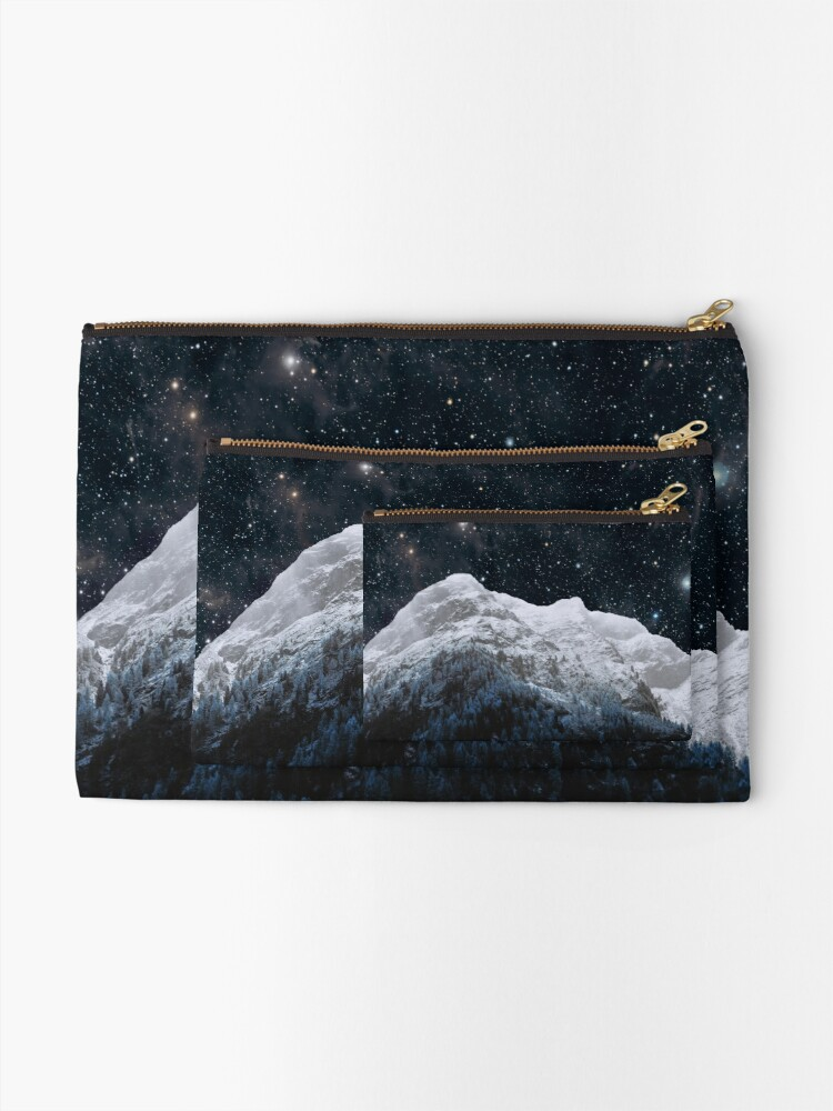 Alternate view of Mountains Attracts Galaxy Zipper Pouch