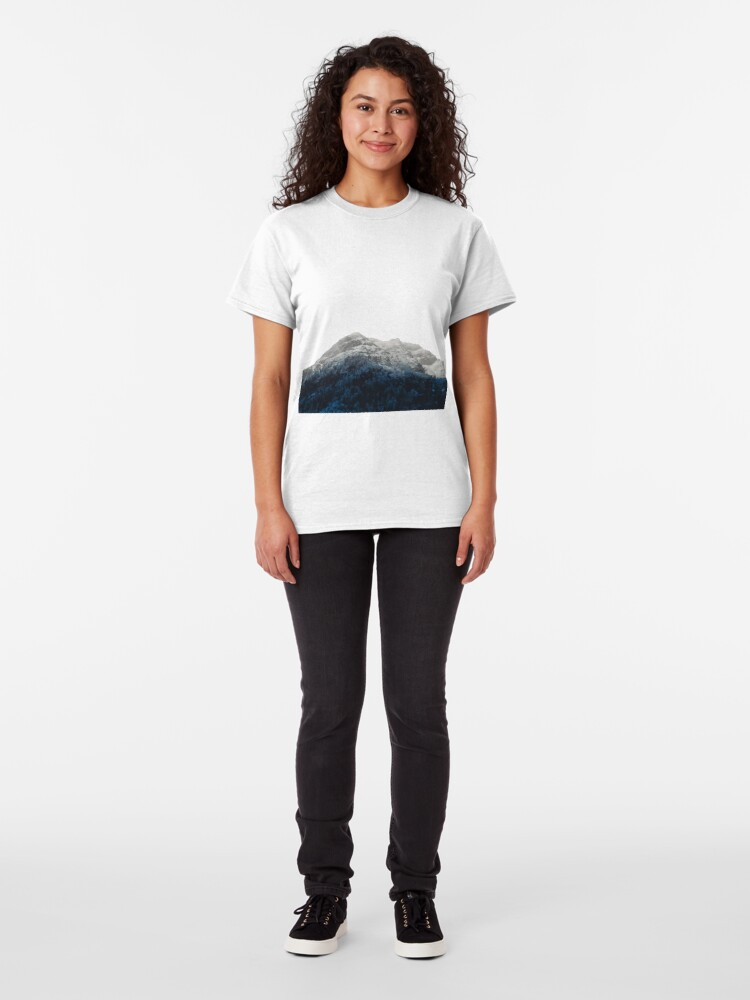 Alternate view of Mountains Attracts Galaxy Classic T-Shirt