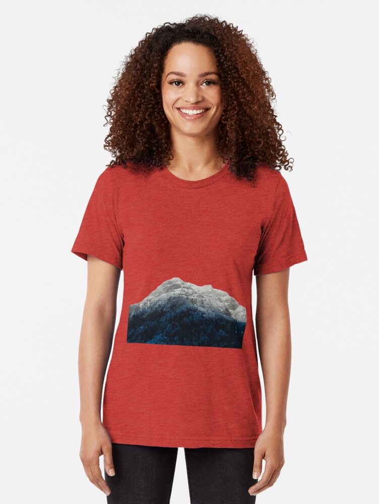 Alternate view of Mountains Attracts Galaxy Tri-blend T-Shirt