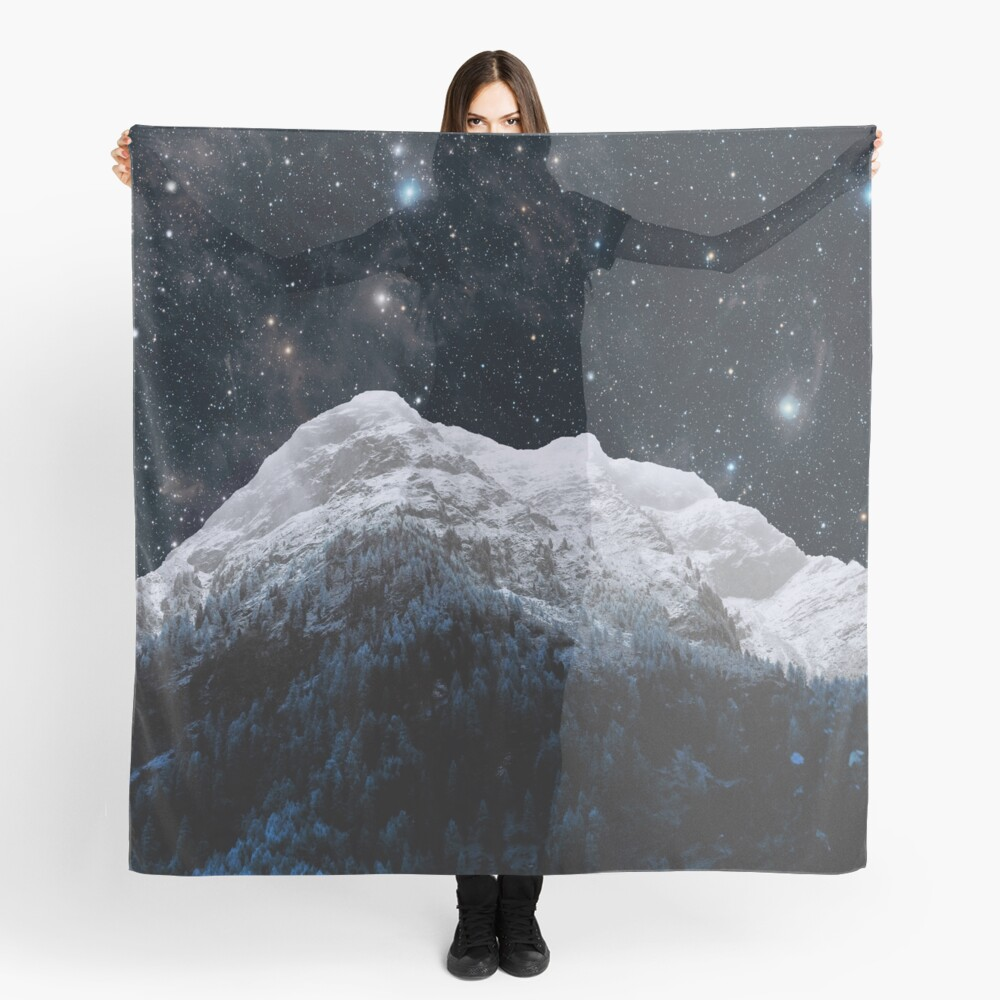 Mountains Attracts Galaxy Scarf