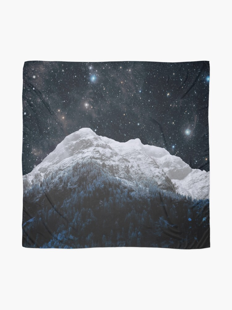 Alternate view of Mountains Attracts Galaxy Scarf