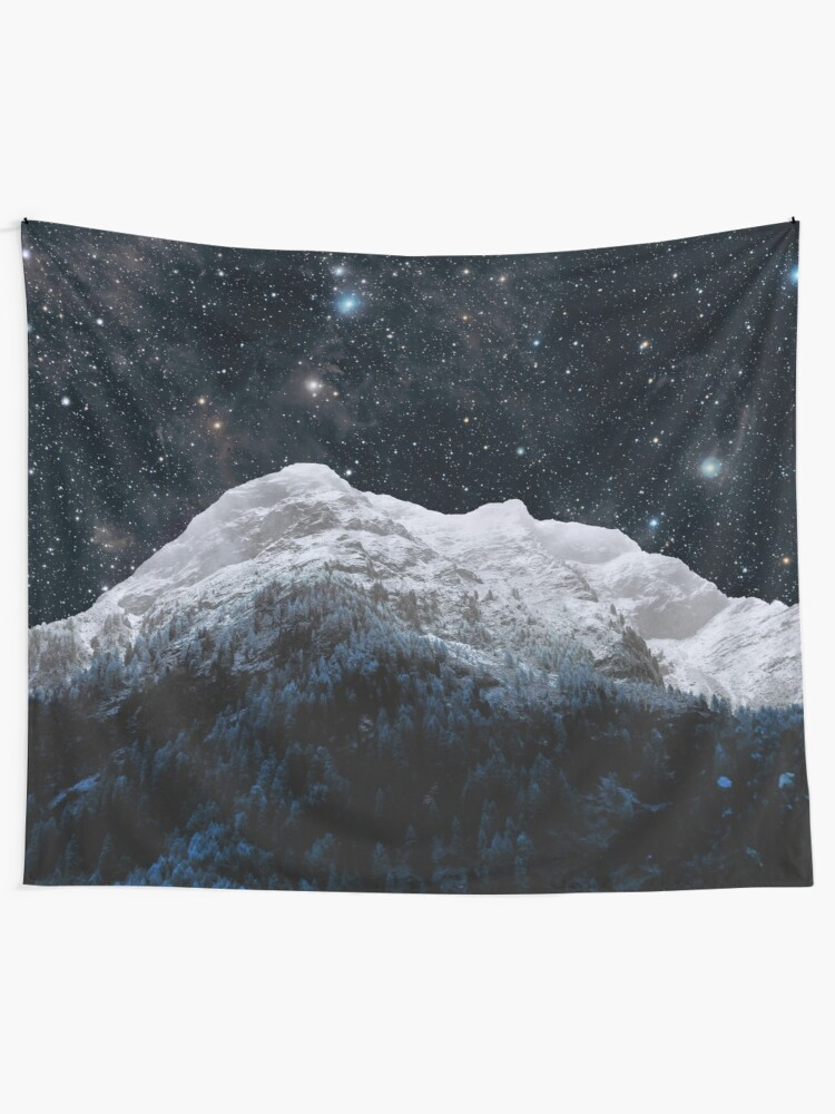 Alternate view of Mountains Attracts Galaxy Tapestry