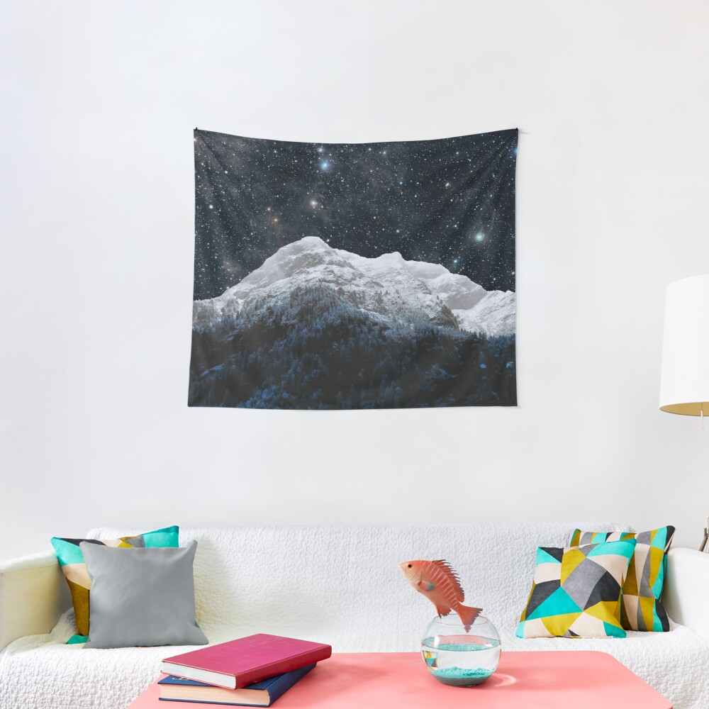 Mountains Attracts Galaxy Tapestry