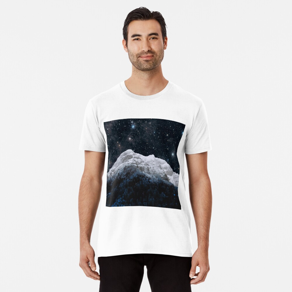 Mountains Attracts Galaxy Premium T-Shirt