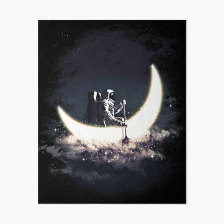 Moon Sailing Art Board Print
