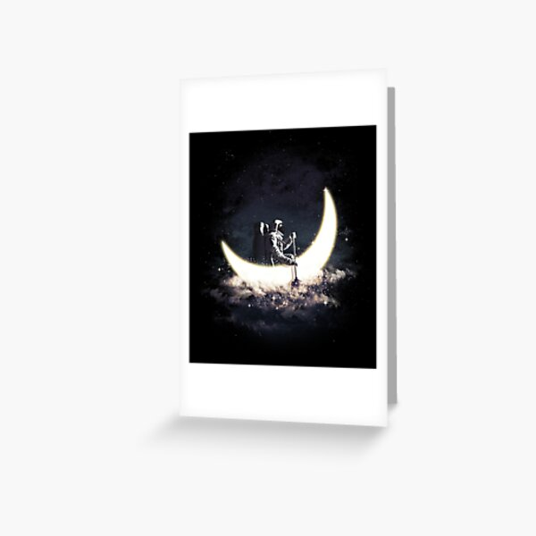 Moon Sailing Greeting Card