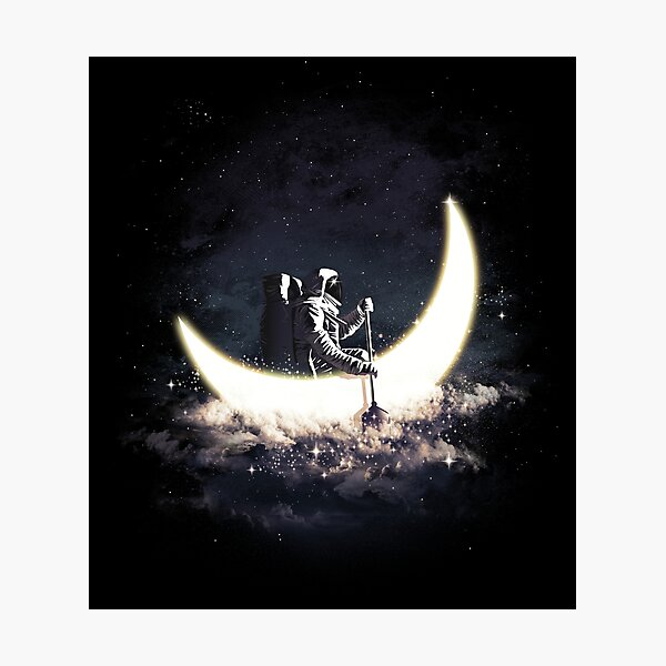 Vela lunar Lámina fotográfica