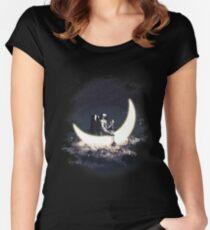 Mond Segeln Tailliertes Rundhals-Shirt