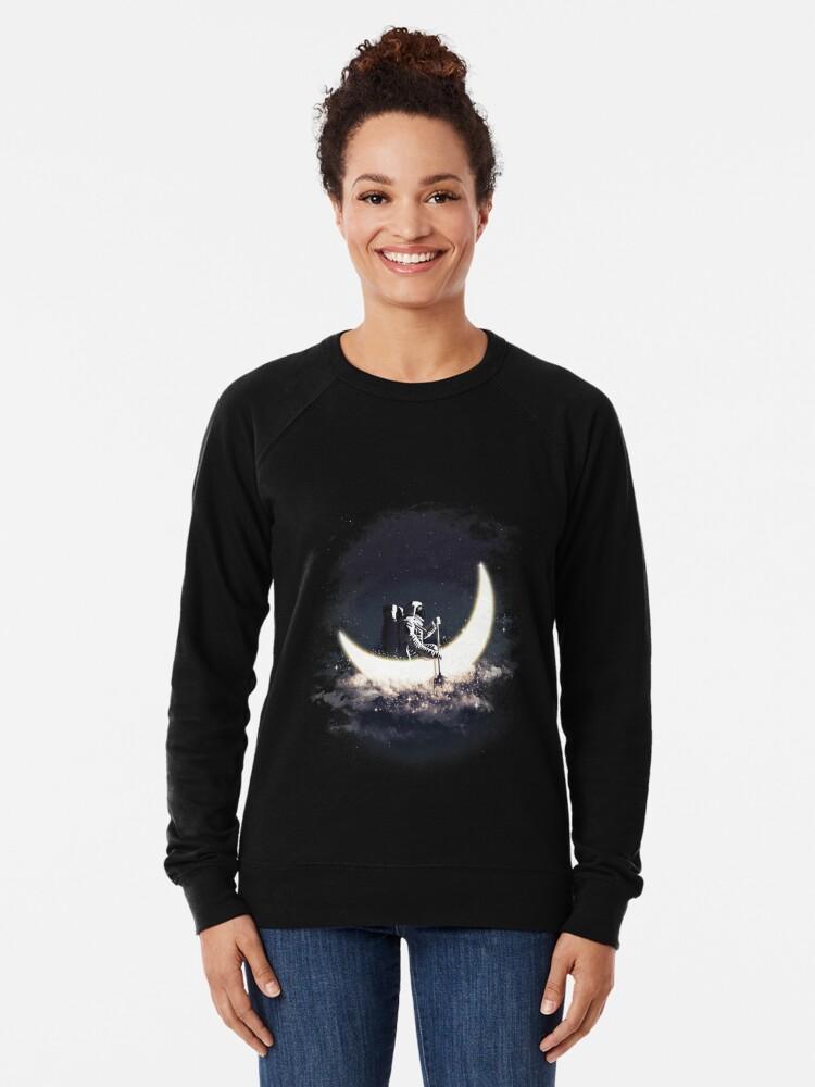 Alternative Ansicht von Mond Segeln Leichtes Sweatshirt