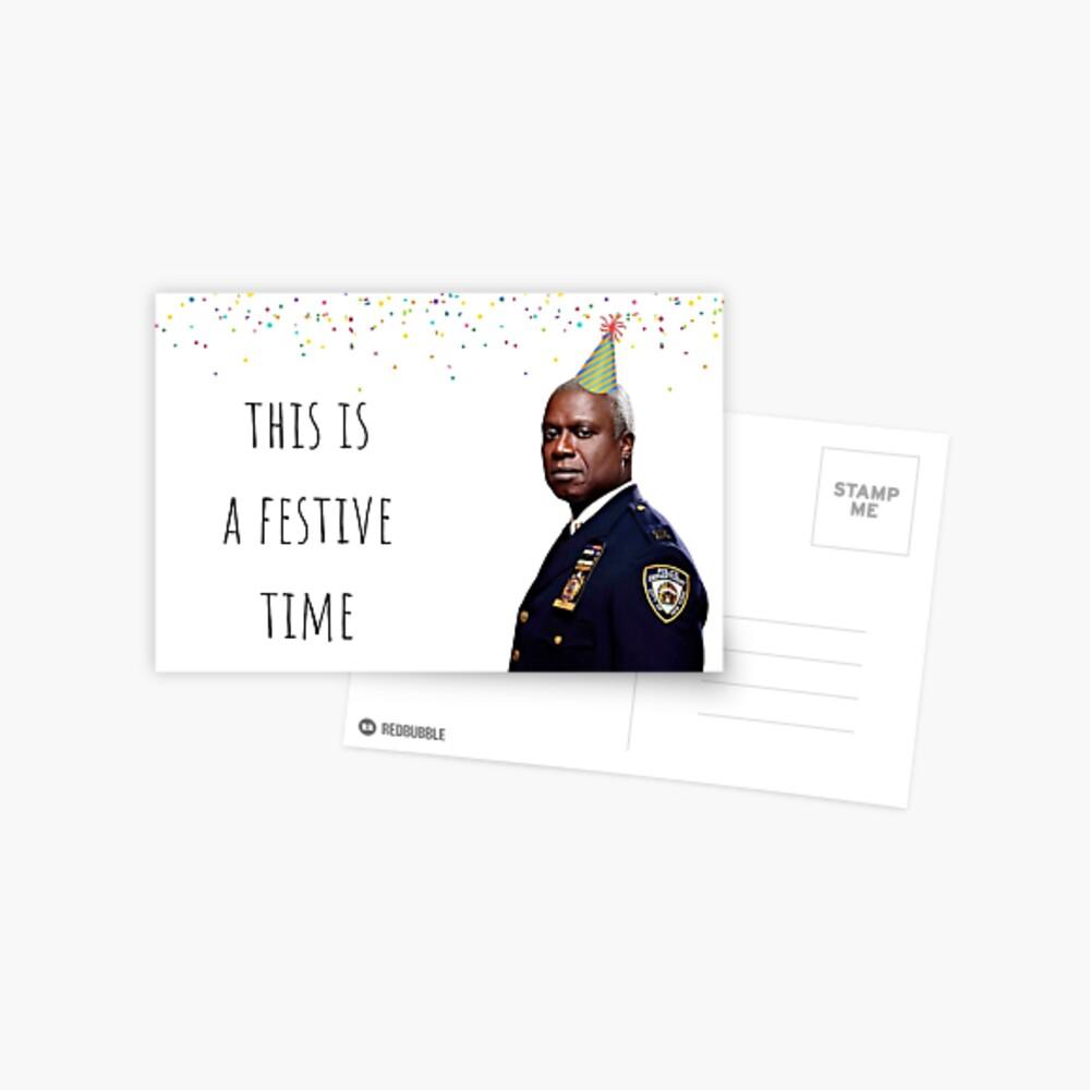 Brooklyn Nine Nine Captain Holt card/sticker,mug, Birthday, Anniversary, Mothers day, Fathers day, Graduation, Festive Postcard